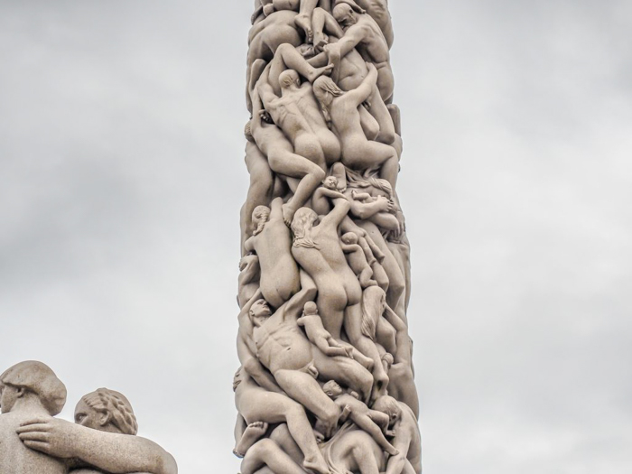 24 hours in Oslo, Norway -- The monolith at Vigeland Sculpture Park