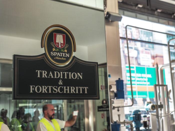 Inside the Spaten brewery in Munich, Germany