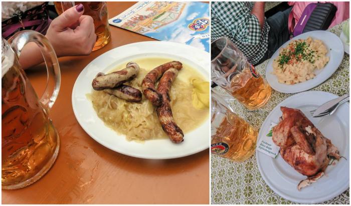 My Wanderlusty Oktoberfest Recap | What it's like at Oktoberfest in Munich, Germany | What it's like to travel to Oktoberfest with Thirsty Swagman | Oktoberfest beer tents | Oktoberfest food and beer | What to wear to Oktoberfest | Oktoberfirsts | Hacker-Pschorr Festzelt | Hacker-Pschorr Tent | Food and beer