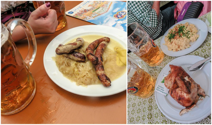 My Wanderlusty Oktoberfest Recap | What it's like at Oktoberfest in Munich, Germany | What it's like to travel to Oktoberfest with Thirsty Swagman | Oktoberfest beer tents | Oktoberfest food and beer | What to wear to Oktoberfest | Oktoberfirsts | Hacker-Pschorr Festzelt | Hacker-Pschorr Tent | Food and beer