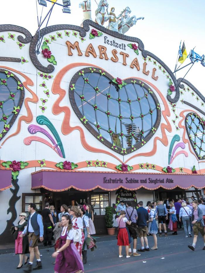 My Wanderlusty Oktoberfest Recap | What it's like at Oktoberfest in Munich, Germany | What it's like to travel to Oktoberfest with Thirsty Swagman | Oktoberfest beer tents | Oktoberfest food and beer | What to wear to Oktoberfest | Oktoberfirsts | Marstall Tent