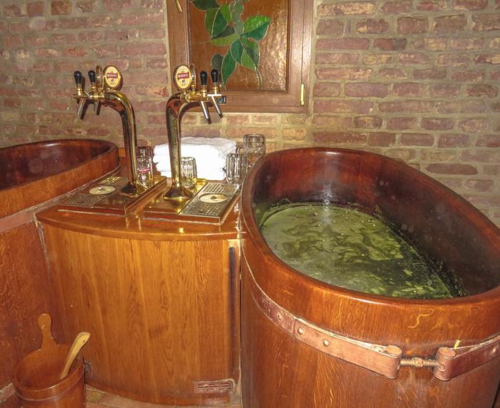 Inside a Prague beer spa