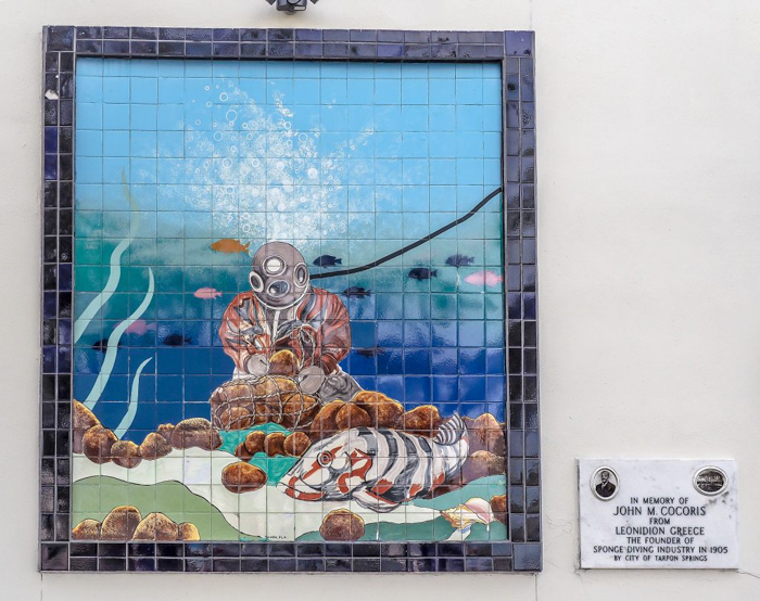 Greeking out at the Tarpon Springs Sponge Docks | What to do in the Tampa Bay area | Greek community | Greek food | Sponge capital of the world | scuba diver