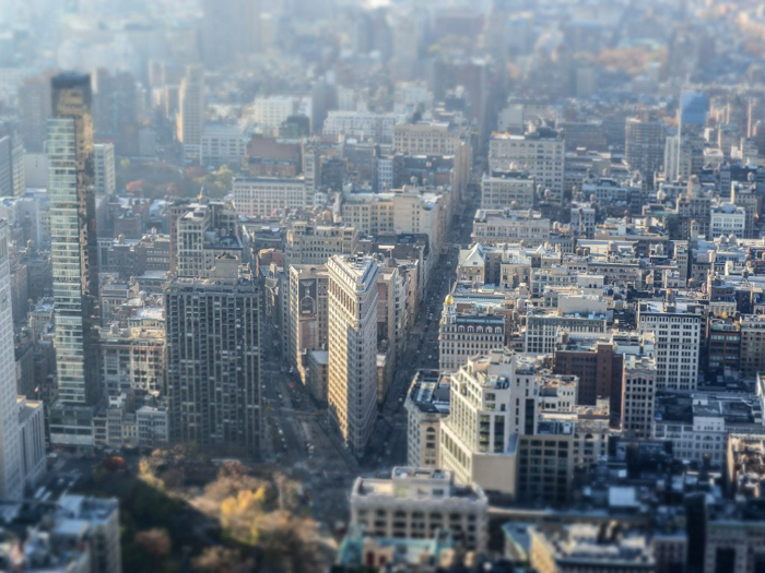 Is the observatory at the Empire State Building the best observation deck in New York City? (Flatiron Building)