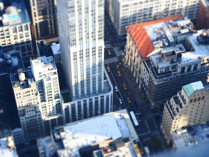 Is the observatory at the Empire State Building the best observation deck in New York City? (looking down)