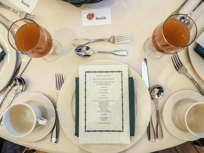 My table setting at the Plymouth Plantation Thanksgiving dinner in Plymouth, Massachusetts--just an hour south of Boston