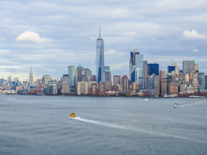 Visiting the Statue of Liberty, New York City // manhattan from crown