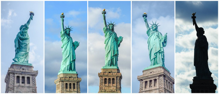 Visiting the Statue of Liberty, New York City // all angles