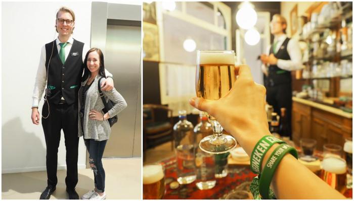 Tour guide | VIP wristbands | The Heineken Experience in Amsterdam | the Netherlands | Heineken Brewery | brewery tour | VIP tasting | beer | Amstel | Brand | Affligem | Heineken 41 | beer tasting