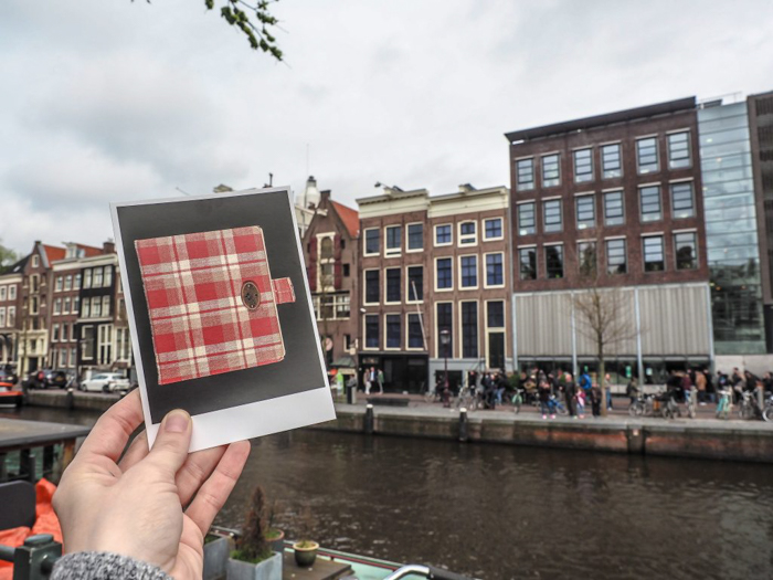 Diary of Anne Frank in front of the Anne Frank House as part of my 3 days in Amsterdam, Netherlands | Dutch history | WWII