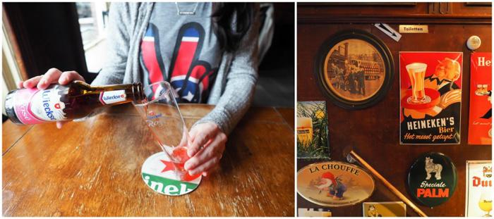 Café Kalkhoven, traditional Dutch brown cafe | 3 days in Amsterdam, Netherlands | Rosé beer | Jordaan