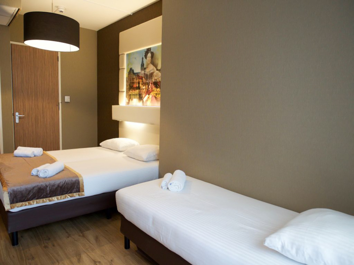 Beds at the Hotel Mosaic City Centre | Amsterdam, Netherlands