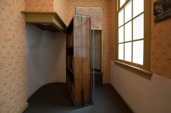 Hidden stairs behind the bookcase inside the Anne Frank House in Amsterdam | 3 days in Amsterdam, Netherland | Dutch History | WW2 | Diary of Anne Frank