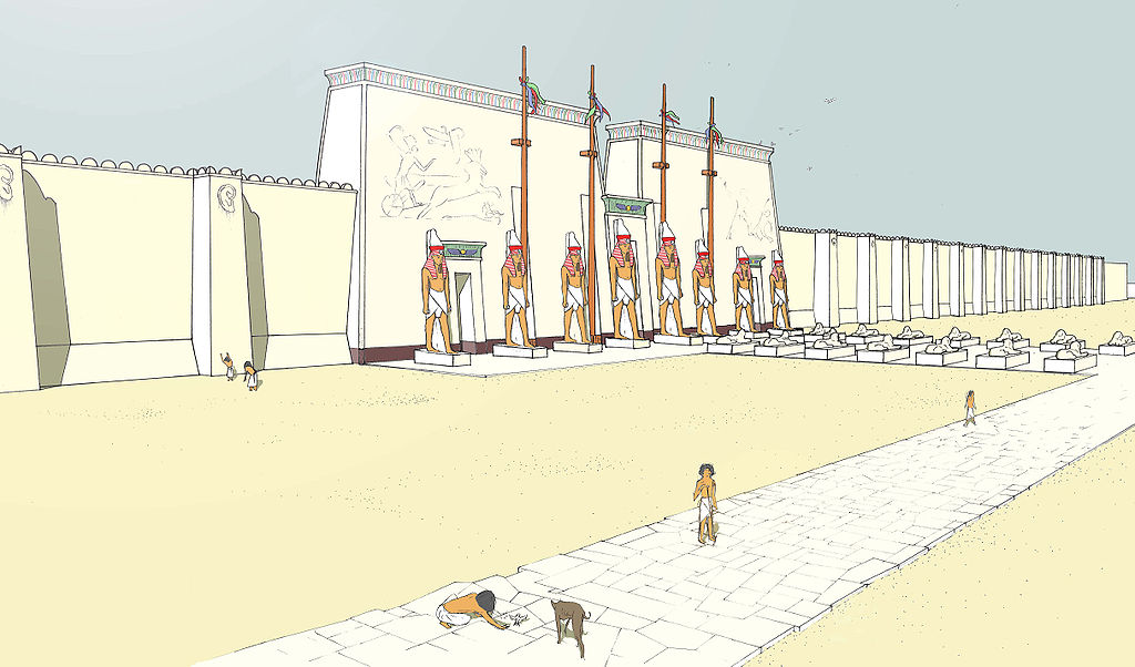 Memphis Zoo exterior based on Ancient Great Temple of Ptah in Memphis, Egypt