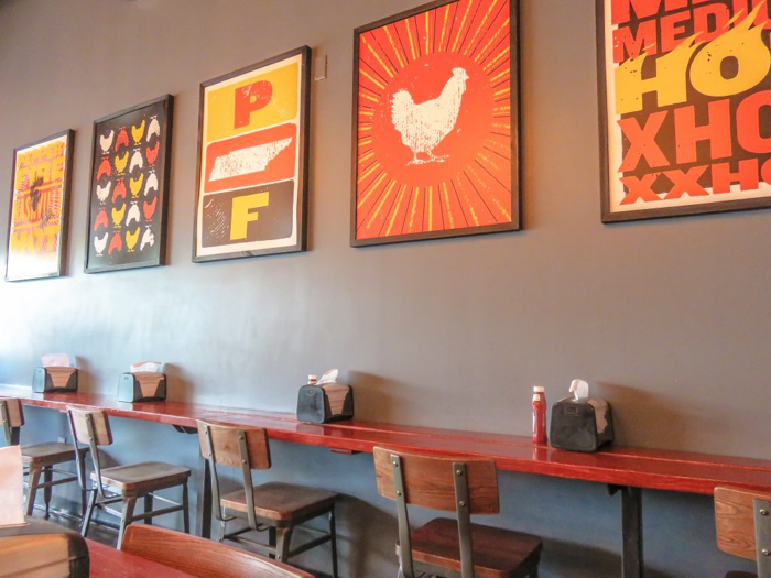 An exploration of Nashville Hot Chicken | Pepperfire Hot Chicken | Nashville, Tennessee | chicken and waffles, chicken tenders, spicy fried chicken | Southern cuisine | Soul food | inside of the building