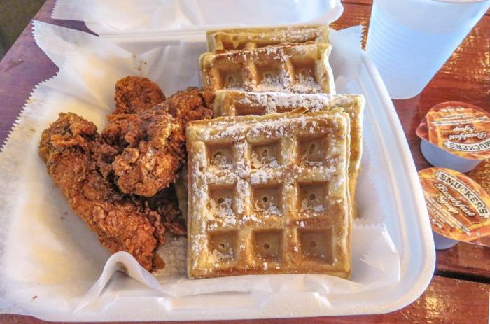An exploration of Nashville Hot Chicken | Pepperfire Hot Chicken | Nashville, Tennessee | chicken and waffles, chicken tenders, spicy fried chicken | Southern cuisine | Soul food | chicken and waffles