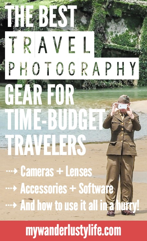 The best travel photography gear for time-budget travelers | Travel photography for quick trips for real people | Camera and gear | GoPro and accessories | Camera care | Photography editing software | Storage | Before and after photos | Cell phone camera lenses | Movie editing software | Photography manuals and ebooks | Olympus OM-D E-M5 Mark II