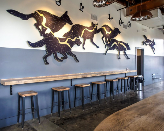 Memphis craft breweries | Ghost River Brewing Co. | Craft beer in Downtown Memphis, Tennessee | Wolf River wall art