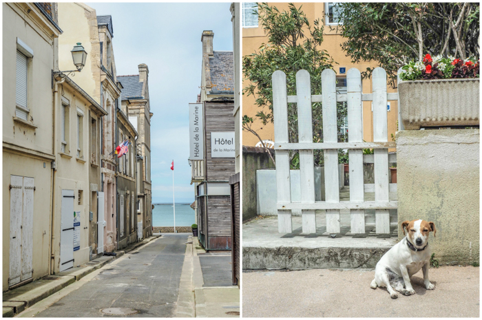 The best D-Day sites to visit in Normandy, France | WWII | WW2 | Arromanches | streets and dog