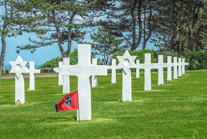 The best D-Day sites to visit in Normandy, France | WWII | WW2 | Normandy American Cemetery | Tennessee flag