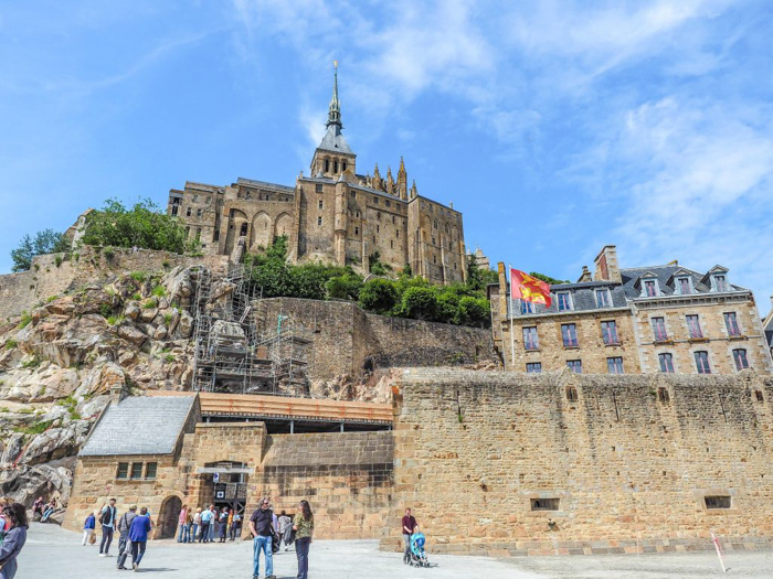 It's actually worth visiting Mont Saint Michel | Normandy, France | Medieval abbey on an island | Bucket list | Disney fairy tale castle inspiration | Mont-St-Michel | from ground
