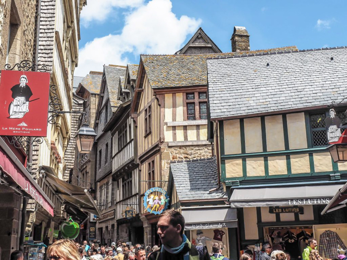 It's actually worth visiting Mont Saint Michel | Normandy, France | Medieval abbey on an island | Bucket list | Disney fairy tale castle inspiration | Mont-St-Michel | shops