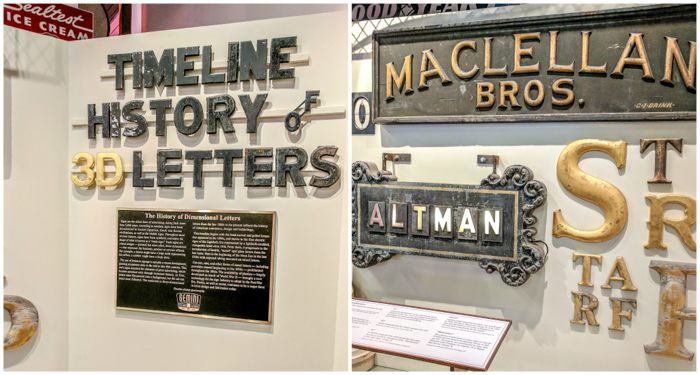 American Sign Museum | Cincinnati, Ohio | Neon signs | How to make | Americana | Private Tour | What to do in Cincinnati | Queen City | Big Boy | American history | Quirky Museums | Unique Museums | Fun things to do in Cincinnati | timeline of the history of letters