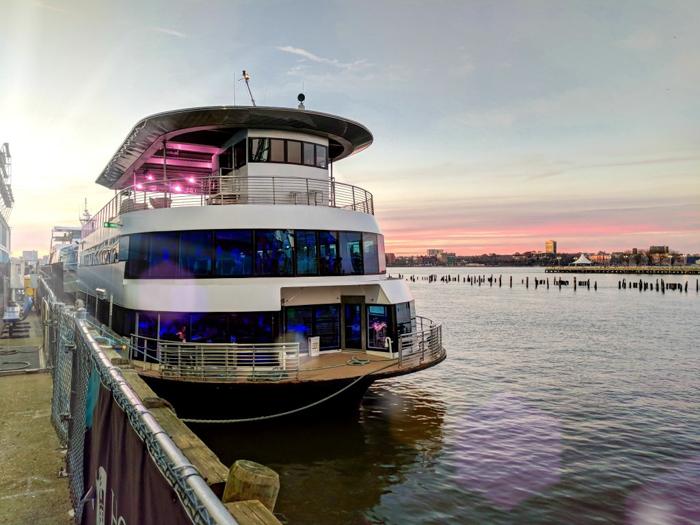 large yacht docked