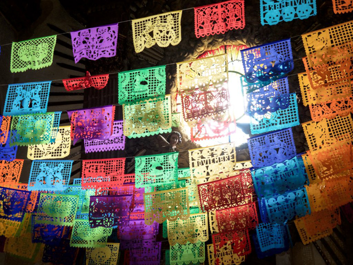 17 Things That Shocked Me in Mexico | Mexico Coaxaca de Juarez | Cathedral of Our Lady of the Assumption Oaxaca | Colored Banners