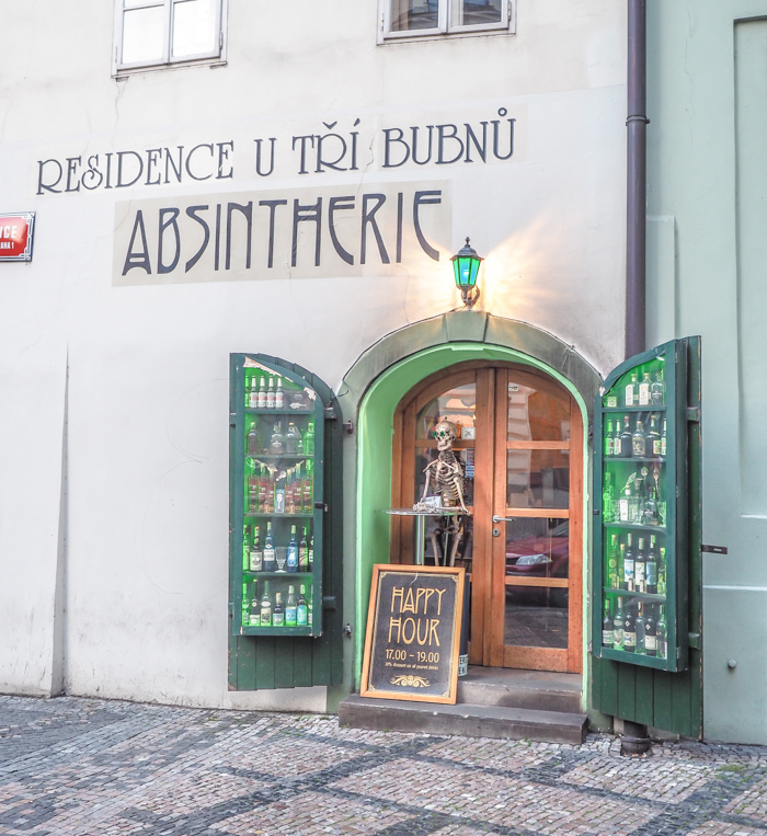 Czeching Out the Best of Prague in 3 Days   Czech Republic   Drinking Absinthe at the Absintherie in Franz Kafka Square