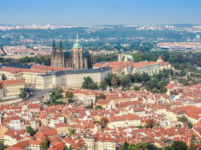 Czeching Out the Best of Prague in 3 Days   Czech Republic   Petrin Tower, Petrin Hill, Best views in Prague, View of Prague Castle
