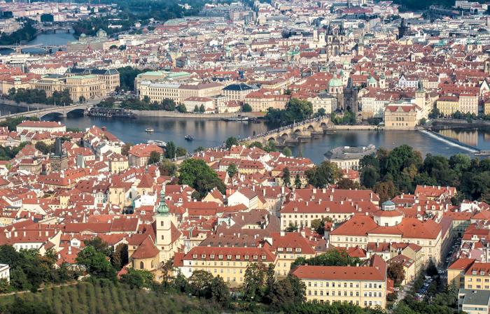 Czeching Out the Best of Prague in 3 Days   Czech Republic   Petrin Tower, Petrin Hill, Best views in Prague, View of Charles Bridge