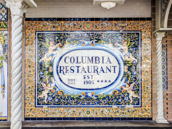 Spend a day in Ybor City | Tampa, Florida | lunch at Columbia restaurant, 1905 salad, cuban sandwich, mojito, sangria