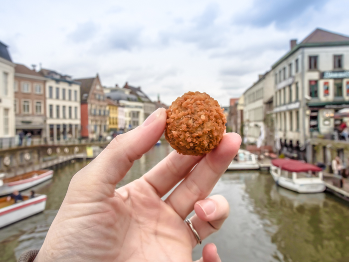 4 days in Belgium | Where to eat in Ghent | Gent | The Great Butcher's Hall | Bitterballen