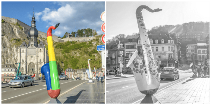 4 days in Belgium | What to see in Dinant | Charles de Gaulle Bridge | Saxophone sculptures