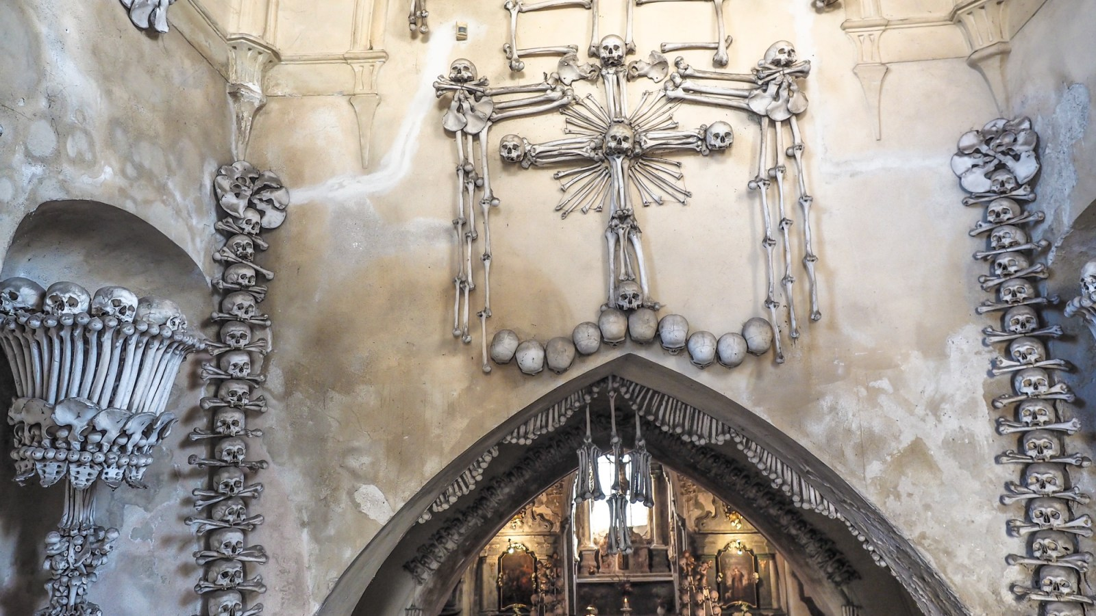 The Sedlec Ossuary in Kutná Hora, Czech Republic // One humerus photo essay on the day trip from Prague to see the bone church