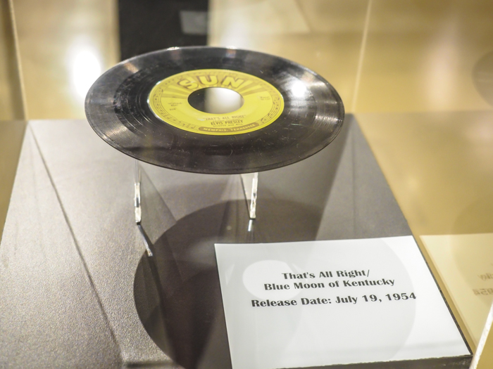 Elvis's first record | 13 Reasons to Visit Graceland in Memphis, Tennessee even if you're not an Elvis Presley fan #Elvis #Graceland #Memphis #traveltips