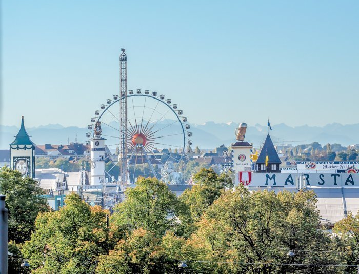 An Oktoberfest Tour Guide's Most Frequently Asked Oktoberfest Questions | Need to know Oktoberfest in Munich, Germany #oktoberfest #munich #germany #beer #festival | view from Hotel Senator
