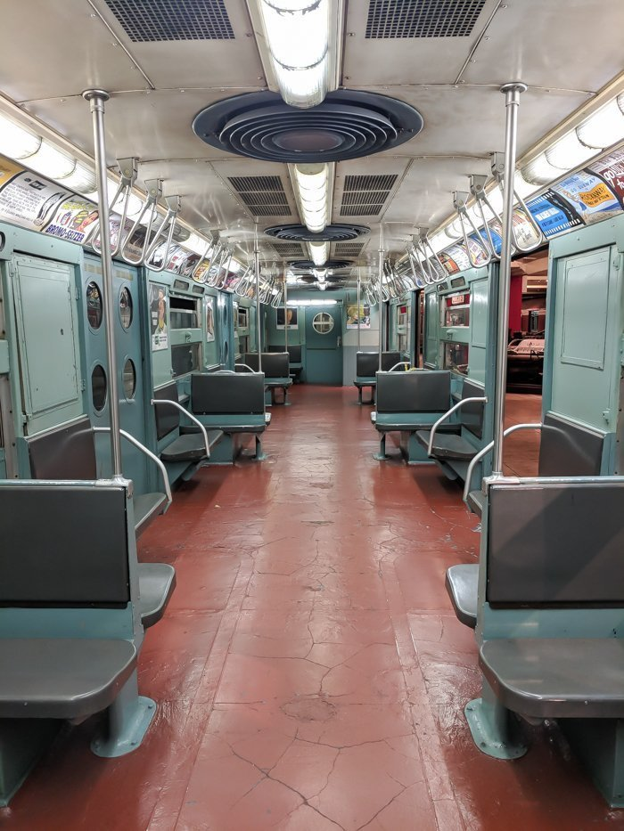 Vintage subway cars at Brooklyn's New York Transit Museum // Underground and Underrated | The best New York City museum you've never heard of | New York City hidden gem | Marvelous Mrs. Maisel 1950s #NewYorkCity #museum #transitmuseum #brooklyn #nycmuseum #traveltip #timebudgettravel