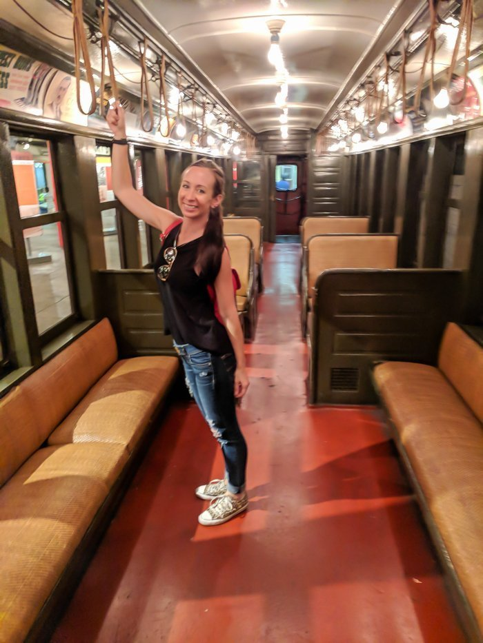 Vintage subway cars at Brooklyn's New York Transit Museum // Underground and Underrated | The best New York City museum you've never heard of | New York City hidden gem | #NewYorkCity #museum #transitmuseum #brooklyn #nycmuseum #traveltip #timebudgettravel