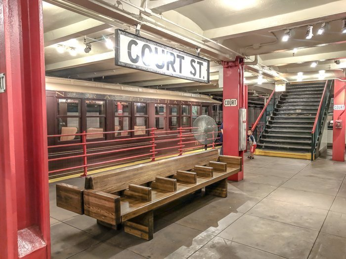 Court St. subway station at Brooklyn's New York Transit Museum // Underground and Underrated | The best New York City museum you've never heard of | New York City hidden gem | #NewYorkCity #museum #transitmuseum #brooklyn #nycmuseum #traveltip #timebudgettravel