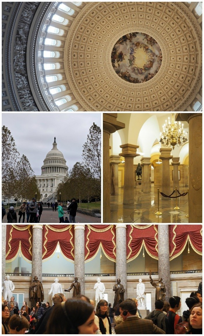 U.S. Capitol building tour, capitol rotunda | A Jam-Packed 3 Days in Washington DC Itinerary for First Time Visitors | #washingtondc #timebudgettravel #USA