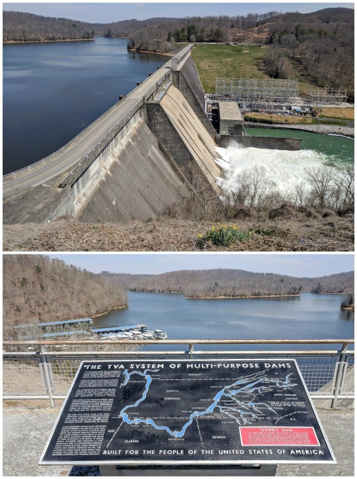 Norris Dam | 7 Ways to Spend a Day in Oak Ridge, Tennessee | Manhattan Project | Atomic bomb | World War II | Department of Energy | Y-12, X-10 graphite reactor | #Oakridge #WWII #manhattanproject #tennessee