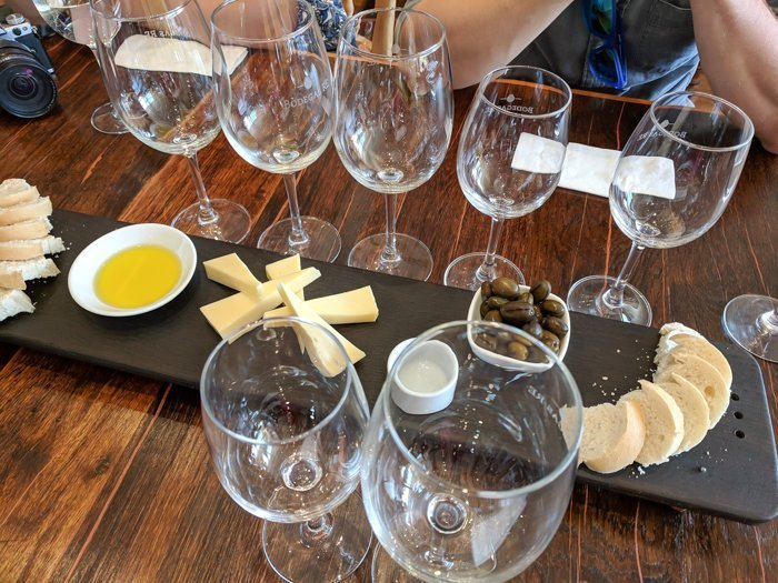 Our glasses at Bodegas RE winery | Wine Tasting in Chile: Casablanca vs. Maipo Valley | How to decide where to go wine tasting in Chile | Casablanca valley wineries | #chile #wine #winetasting #vineyard #bodegasre #casablanca