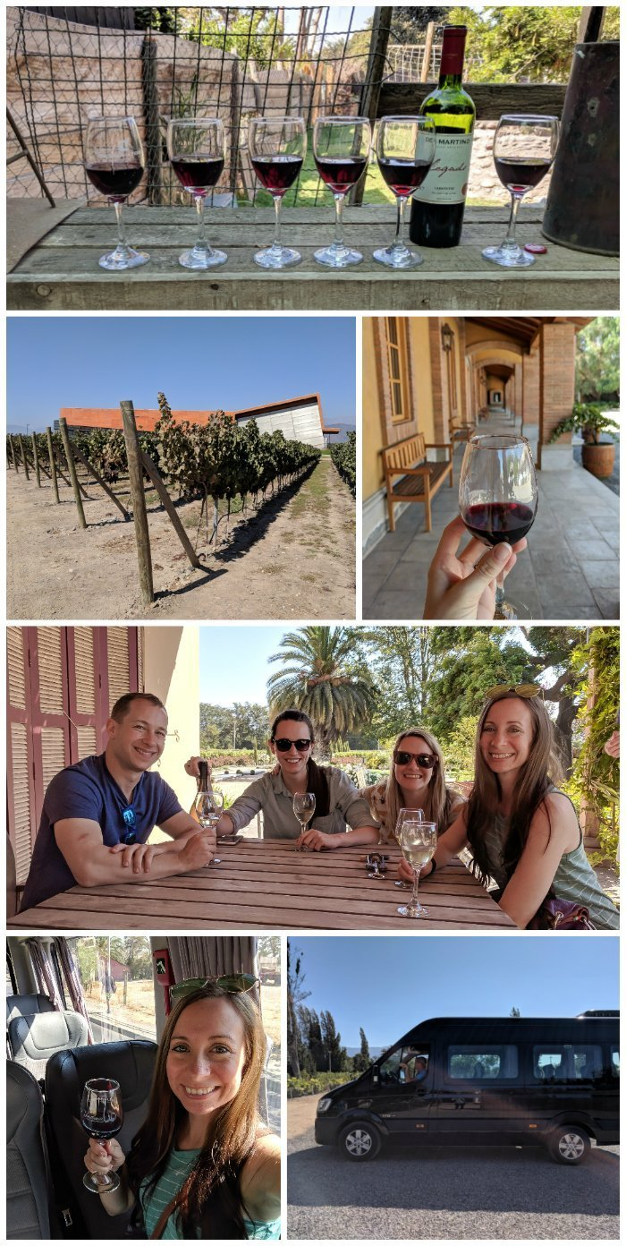How to Spend One Week in Chile and Cover All the Bases   Wine tasting outside Santiago on the Maipo Valley Little Wine Bus #chile #whattodoinchile #weekinchile #winetasting #wine #maipovalley
