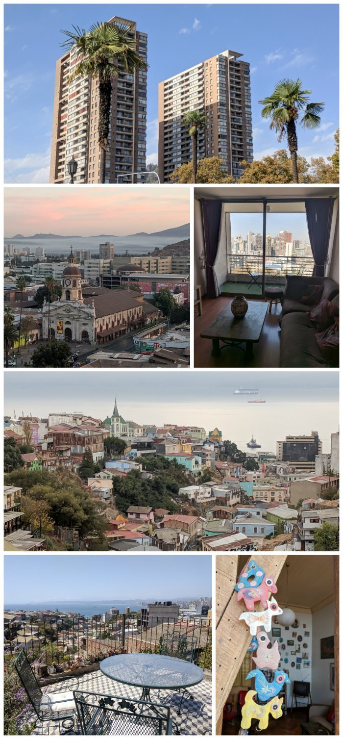 How to Spend One Week in Chile and Cover All the Bases   Where to stay in Chile, Santiago and Valparaiso #chile #santiago #whattodoinchile #weekinchile #valparaiso #chileairbnb #terrace