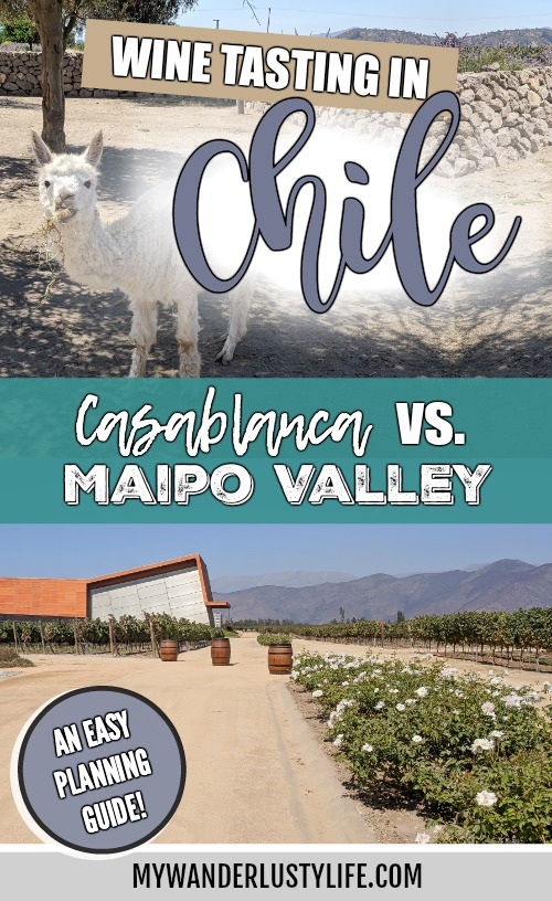Wine Tasting in Chile: Casablanca vs. Maipo Valley | How to decide where to go wine tasting in Chile | Casablanca valley wineries like Viña Emiliana, Casas del Bosque and Bodegas RE | Maipo Valley Little Wine Bus, De Martino vineyard, and more. #chile #wine #winetasting #casablanca #maipovalley #valparaiso