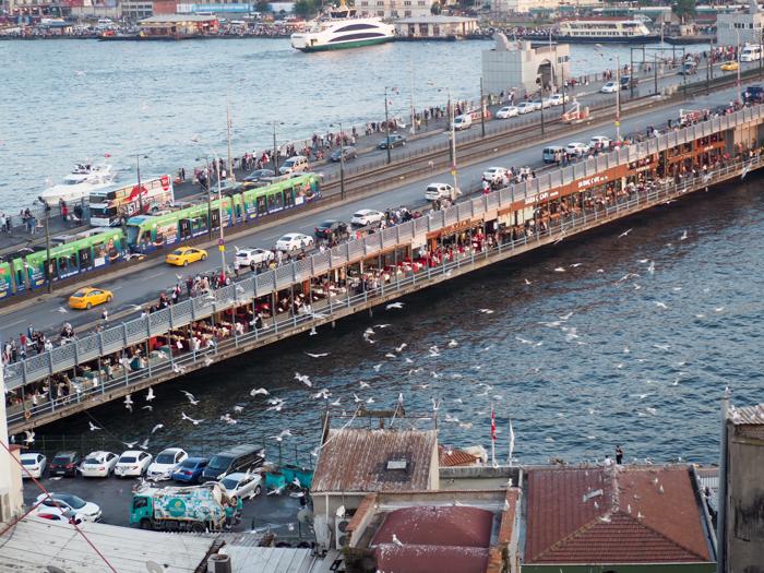 Galata Bridge, Where to Stay in Istanbul, Turkey: Hotel Momento Golden Horn in Beyoglu / Karakoy. #istanbul #turkey #goldenhorn #wheretostay #hotelreview #hotelmomento #traveltips