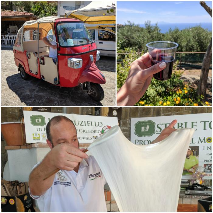 5 days in sorrento, italy + amalfi coast, food tour, mozzarella lesson, turuziello farms #sorrento #italy #cheese #foodtour