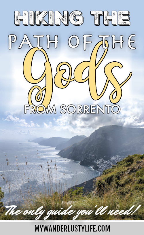 Hiking the Path of the Gods from Sorrento, Italy | Il Sentiero degli Dei | A Complete Guide: Where is the Path of the Gods, How to get there from Sorrento, What to pack, and more! #pathofthegods #sorrento #amalficoast #hiking #italy